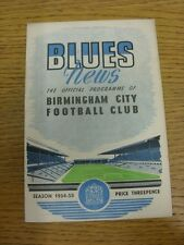 05/02/1955 Birmingham City V Lincoln City (lieve piega, SQUADRA modifiche). grazie F