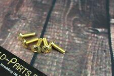 Flachkopfschraube mit Innensechskant M5x16 GOLD vergoldet M5 Schraube 24-Karat