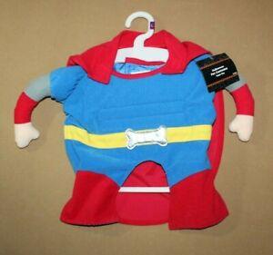 NEW SUPER BOY Super Hero Halloween Pet Dog Costume Size L