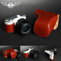 Handmade Full Real Leather Camera Case Bag Cover for Samsung NX300  18-55mm Lens