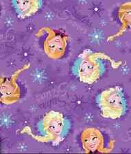 Fat Quarter Disney Frozen Sisters Skating Hearts 100% Cotton Quilting Fabric