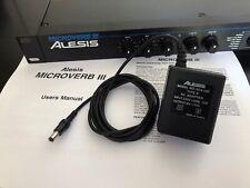 Alesis Microverb III 3, power supply, manual, vintage
