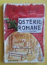 AAVV-OSTERIE ROMANE PREF. GIUSEPPE BOTTAI-CESCHINA 1936-L2463