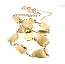 Chico's Gold Tone Necklace Long Chain or Belt .75 x 38-43""