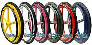 """Set of 2 X-core 24"""" x 1 3/8"""" (540m) Wheelchair Wheels With Tire and Pushrims"""