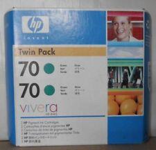 ORIGINALE HP 70 Twin Pack inchiostro cb348a verde per DesignJet z3100 2 x c9457a