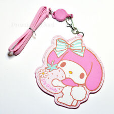 Cute For My Melody ID Badge Card Holder Retractable ID Badge Reel Pendant UK