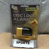 XENA XM3DL YELLOW & BLACK ALARM BRAKE DISC LOCK MOTORCYCLE SECURITY