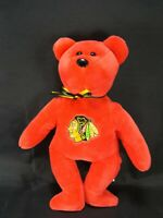 Chicago Blackhawks Stanley the bear TY beanie babies RED 2011 Plush NHL Hockey