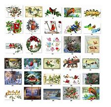 Personalized Return Address Christmas Birds Labels Buy 3 get 1 free (cs1)