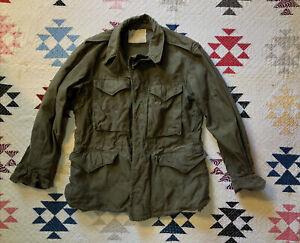 """Vintage WWII WW2 U.S. Army M-1943 Field Jacket M43 40"""" Chest 34S 40's Original"""