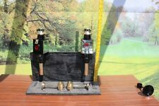 Square Horse drawn 12 volt carriage lamps BRASS & heavy holders PONY SIZE
