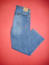 Di marca Ben Sherman-W34 L31-Button-Fly-Jeans Denim Blu Da Uomo-B373