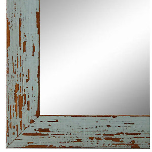 Spiegel Wandspiegel Flur Bad Türkis Retro Vintage Holz Cremona 3,0 - NEU