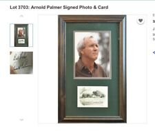 Arnold Palmer Signed (2X) Auto Photo and Scorecard Framed and Matted - Excellent