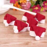 10pc SANTA Hat wine glass decorations Christmas table Place Name Cards Paper