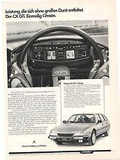 Historische Reklame - vintage adverts -  CITROEN - CX - alte Annoncen KONVOLUT -