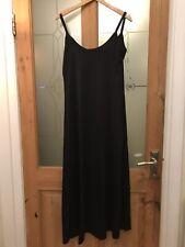 "Nikita Black Polyester Maxi Strap Dress Bust 32"" Length 41"" NEW"