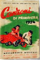 libretto CANZONI di PRIMAVERA 1954 - Messaggerie Musicali - Campi Editore -Testi