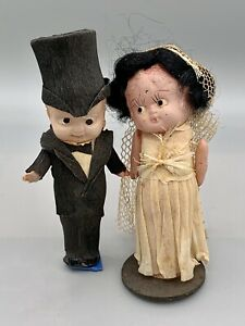 Kewpie Celluloid Bride And Groom