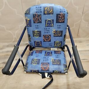 Vintage Graco Tot Loc Clamp On Table High Chair Booster Seat Blue Portable