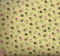 Saddle Up yellow pink floral western children kids Riley Blake fabric
