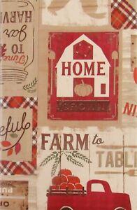 Variety-Autumn Vinyl Tablecloths-Sunflower,Farm,Pumpkins,Animals,Leaves Var Size