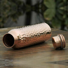 Hammered Pure Copper Water Bottle with Ayurvedic Health Benefits Sports Office
