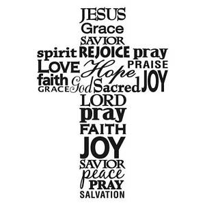 * Darice Embossing Folder CROSS With WORDS Religious Bible Christian A2 1218-49