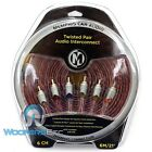 MEMPHIS ETP-21.6 21 FEET 6 CHANNEL TWISTED AUDIO RCA JACK AMPLIFIER CABLE WIRE