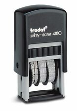 Small Date Stamp, Trodat 4810 Compact Self-Inking Date Stamp, Black Ink