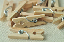50pcs Natural Wood Clip Small Cloth Pin Clothespin Photo Laundary Scrapbooking
