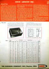Durco Co 1960's Catalog Asbestos Packing The Duriron Company Durcon Lab Sinks