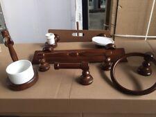 set accessori bagno in legno