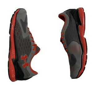UNDER ARMOUR 'MICRO G SPEED SWIFT' Running Shoe Men's US 11.5 Grey Orange EUC