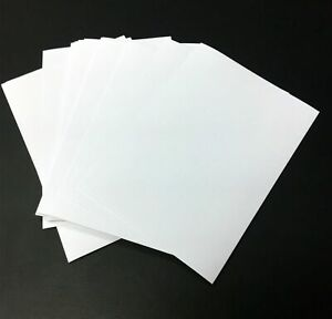 100x A6 Self Adhesive Labels Blank Paper for Laser Ink All Printers Strong Glue
