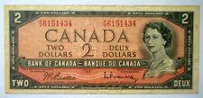 Canada 1954 $2 Dollars Beattie-Rasminsky 'VERY FINE'.
