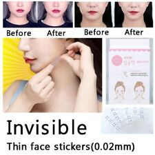 40Pcs Facial Lift Up Adhesive Tape V-Shape Face Label Fast Makeup Chin Tools US