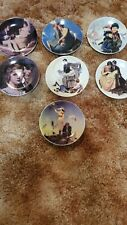 Lot Of 7 Norman Rockwell Plates