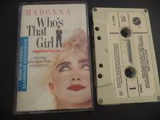 MADONNA - Who's that girl RARE GREEK pressing CASSETTE TAPE 1987 UNIQUE