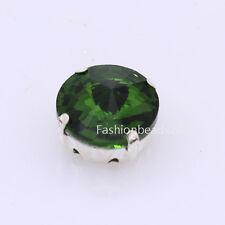 15 Rhinestone 18mm Sew On Foiled round Crystal beads/stone dress/jewels diy Y-pk