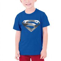 Kids boys girls Cavely Superman Logo Short Sleeve t shirt tee