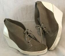 Puma Grey&White Ankle Leather Sneakers Boots Size 4 (713vv)