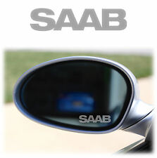 SAAB WING MIRROR - ETCHED GLASS CAR VINYL DECALS-STICKERS x4 turbo