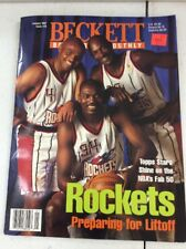 Beckett Basketball Magazine Charles Barkley Hakeem Olajuwon Clyde Drexler Jan 97
