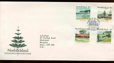 Norfolk Island 1987, 30c, 40c, 80c $2 Definitives FDC First Day Cover #C13982