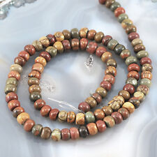 "6x4mm Picasso Jasper Rondelle Beads 15"" (JP268)a for DIY Jewelry"