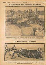 Défense de Liège Deutsches Heer Belgique /Territoriaux Rabbat Maroc  WWI 1914