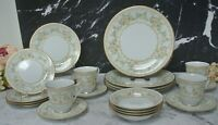 "Set of 24 Pieces of Noritake ""Long Ago"" Pattern 6 Dinnerware for 4~ B"