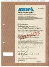 BHW-baufinanz 10000dm 1986